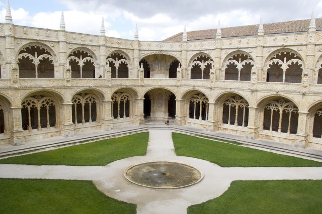 With its unique Manueline-style architecture, the courtyard of the 500-year-old Jeronimos Monastery exudes beauty.