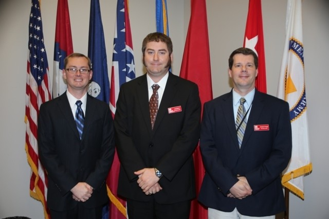 Ben Robinson, Joel Brown and Chris Koeppel are inducted into the Emerging Leaders program for 2012.