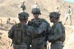 4-31 Infantry Soldiers provide security force during exercise