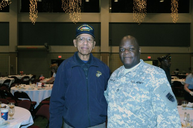 VICKSBURG, Miss.- Staff Sgt. Cedrick Douglas and Soldiers of 412th Theater Engineer Command were out in full force to honor veterans of past and current wars, and to share their 'Soldier for Life' story with members of the Vicksburg community, during Veterans Day celebration here Nov. 12.