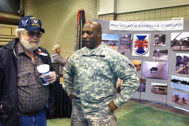 VICKSBURG, Miss.- Staff Sgt. Felton and Soldiers of 412th Theater Engineer Command were out in full force to honor veterans of past and current wars, and to share their 'Soldier for Life' story with members of the Vicksburg community, during Veterans Day celebration here Nov. 12.