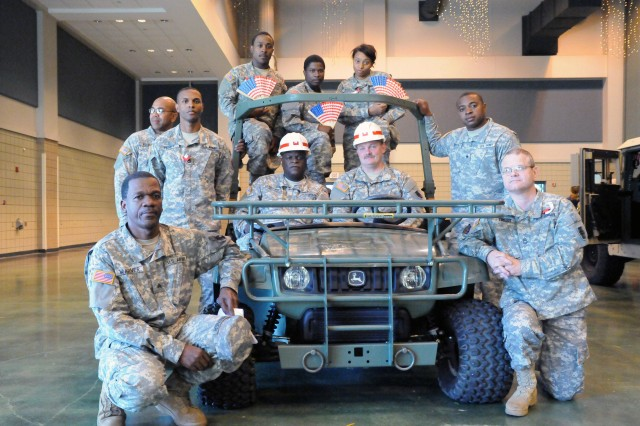 VICKSBURG, Miss.- Soldiers of 412th Theater Engineer Command were out in full force to honor veterans of past and current wars, and to share their 'Soldier for Life' story with members of the Vicksburg community, during Veterans Day celebration here Nov. 12.