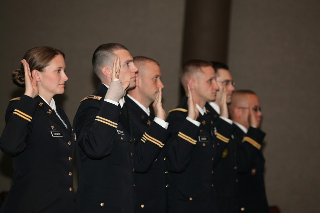 Six Fort Sill attorneys were sworn-in to try cases before the U.S. Court of Appeals for the Armed Forces Nov. 6 at Snow Hall.