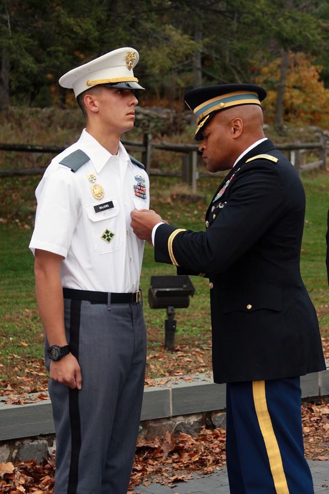 Class of 2016 cadet presented Purple Heart medal