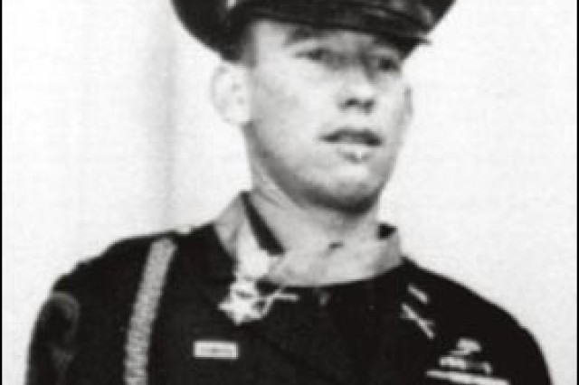 1st Lt. James Stone just after receiving the Medal of Honor from President Dwight D. Eisenhower, Oct. 27, 1953, in Washington D.C.