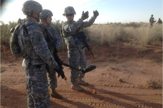 5th AR conducts route clearance training for deploying Reserve engineers