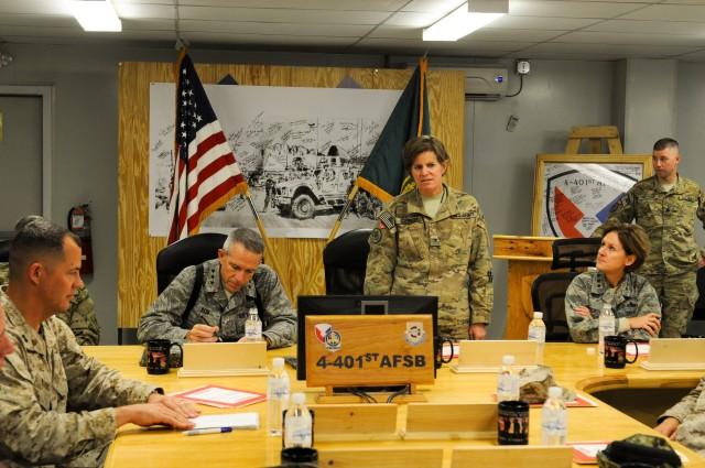 Service Fours visit Kandahar Airfield