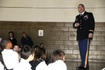 Lt. Col. Endres and Walton talk to St. Louis students about their deployment