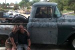 Ashley and Brian Walker with their Chevrolet Truck