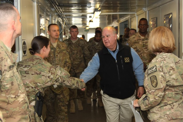 Under Secretary visits Soldiers, Wounded Warriors in Afghanistan, Germany