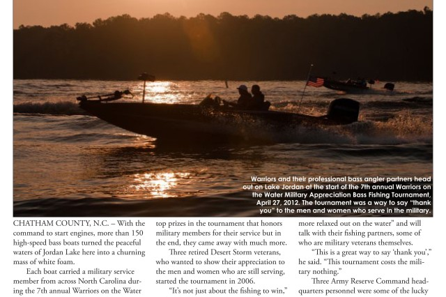 The May 2012 edition of the USARC Double Eagle features stories on: Warriors on the Water, Ravens player visits FORSCOM/USARC, TCS Fraud: It's still a crime that does not pay, Bringing stories from the past to life.