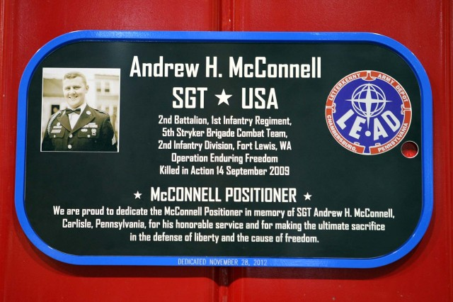 McConnell was assigned to the 2nd Battalion, 1st Infantry Regiment, 5th Stryker Brigade Combat Team, 2nd Infantry Division, in Fort Lewis, Wash. On his first deployment, in southern Afghanistan, he was mortally wounded after his vehicle was attacked by enemy forces with an improvised explosive device on Sept. 14, 2009.