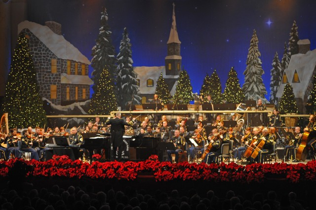 """The U.S. Army Band """"Pershing's Own"""" performs its annual American Holiday Festival at DAR Constitution Hall in Washington, D.C., Dec. 2."""