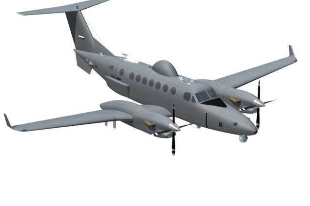 This is a graphic of the Hawker Beechcraft King Air 350 used in the EMARSS program.