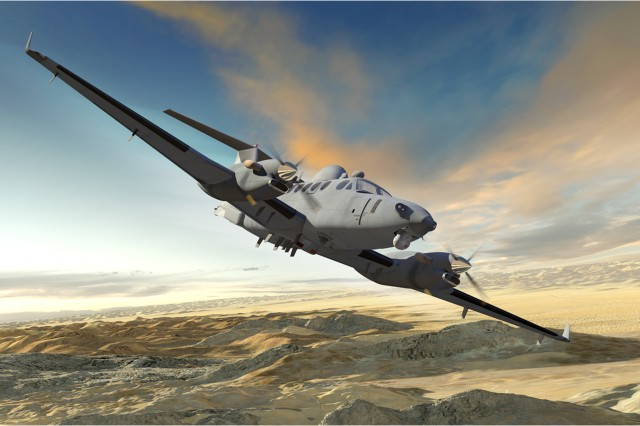 Artist's rendering of the Enhanced Medium Altitude Reconnaissance and Surveillance System now under development.