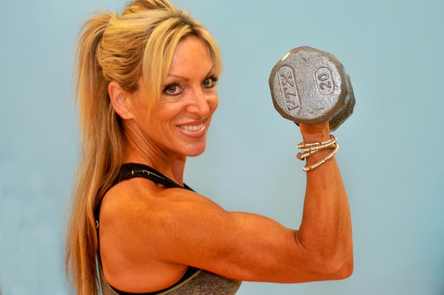 Jodie Kofod, a petite 46- year-old Army spouse, uses figure competition and professional lifestyle coaching skills to encourage others