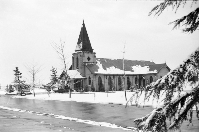 The original chapel located here on Camp Sendai, Japan. The photo was taken in 1960.