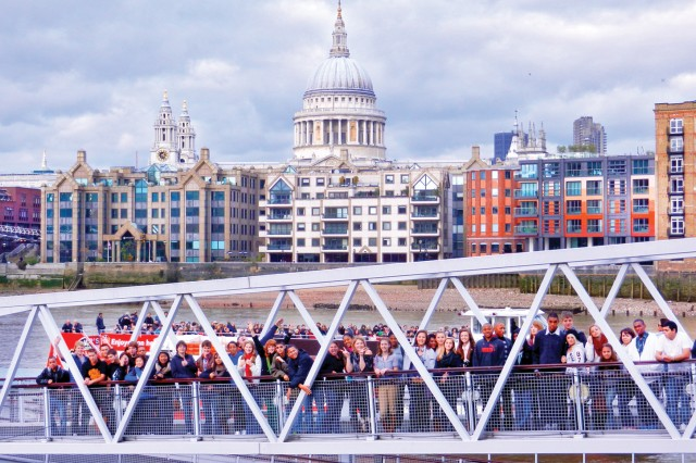 Wiesbaden military community students get a look at the Thames River udring a visit to London and British universities, thanks to a Boys and Girls Clubs of America Dependable Club Award.