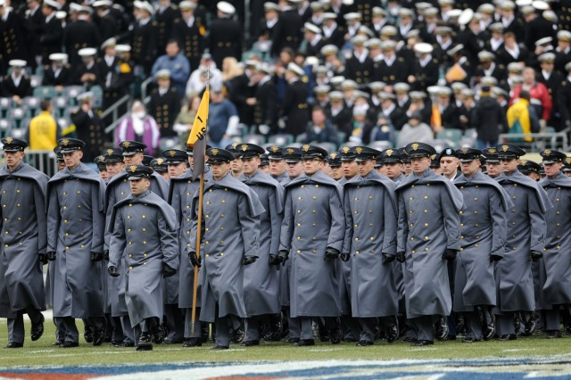Corps of Cadets Marches onto Field
