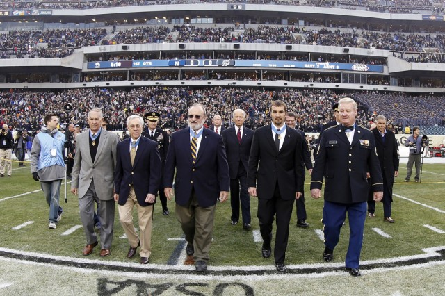 Medal of Honor Recipients during the 113th Army vs. Navy football game Dec. 8, 2012, in Philadelphia, Pa. (U.S. Army Photo by Staff Sgt. Teddy Wade/Released)