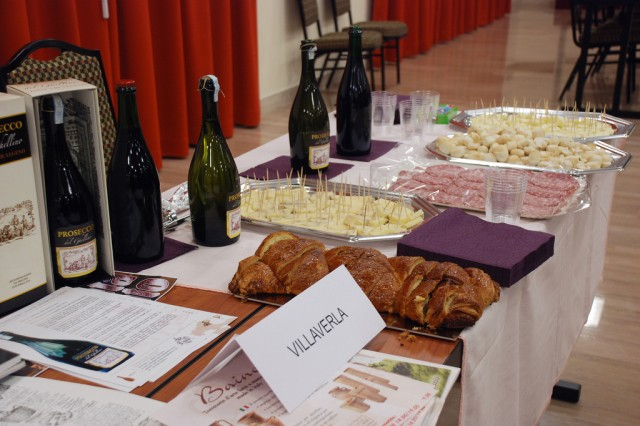"The Comune of Villaverla displays their local specialties during the annual ""Meet the Mayors"" event, Nov. 28, 2012."