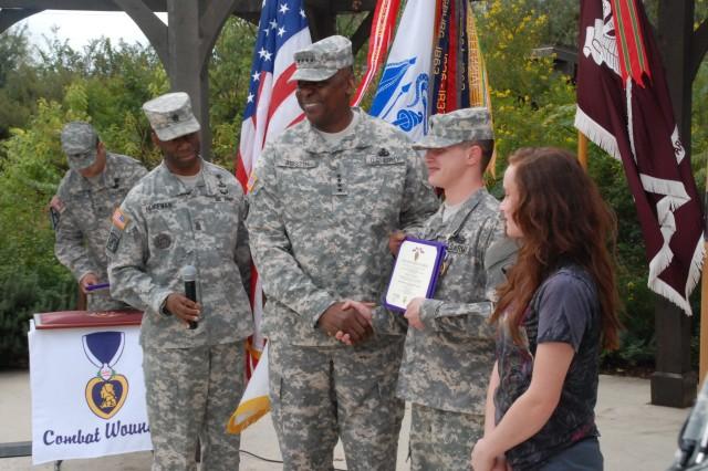 Gen. Austin awards Purple Heart at BAMC