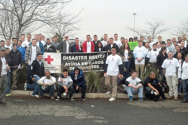 Many volunteers stepped up to help in the massive cleanup in New York and New Jersey from Hurricane Sandy in late October. The volunteers included community members from West Point, cadets, faculty, Department of Military Instruction staff and the U.S. Military Academy Preparatory School cadet candidates.