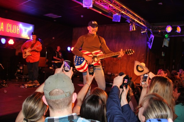 Country music star Aaron Tippin performs at the Kazabra Club in Kaiserslautern, Germany.