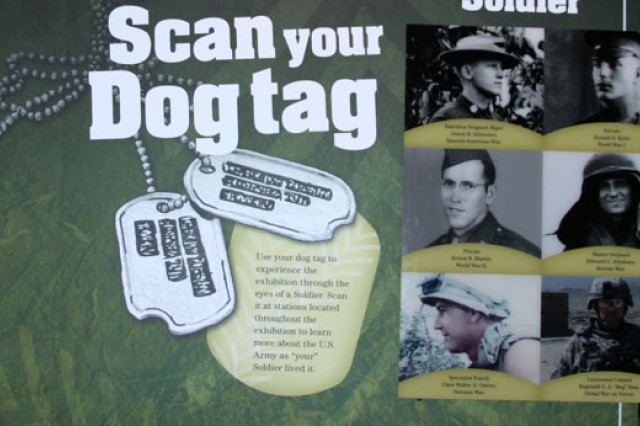 Visitors will select a dog tag scan card that will tell a soldier's story and use it throughout the new Soldiers Experience Gallery exhibit at the Army and Heritage Education Center.