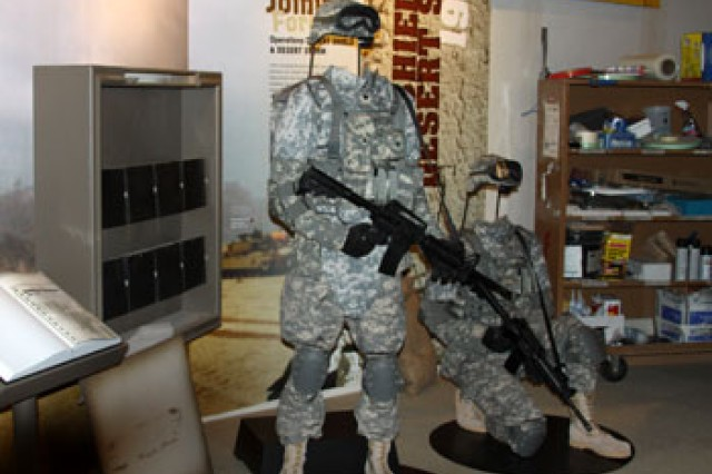 Visitors to the Soldiers Experience Gallery exhibit will be able to take pictures in current combat gear at the Army and Heritage Education Center.