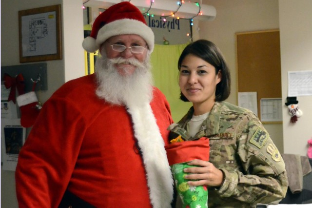 Santa visits hospital in Afghanistan