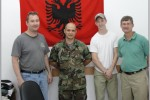 CBARR personnel with a captain of the Albanian Armed Forces.