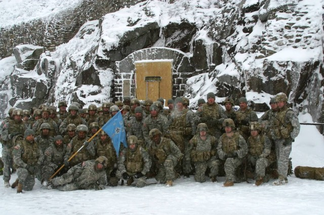 Soldiers of B Company, 2nd Brigade Special Troops Battalion, climbed Whiteface Mountain in the Adirondacks on Nov. 27 to better understand the austere conditions of Afghanistan.