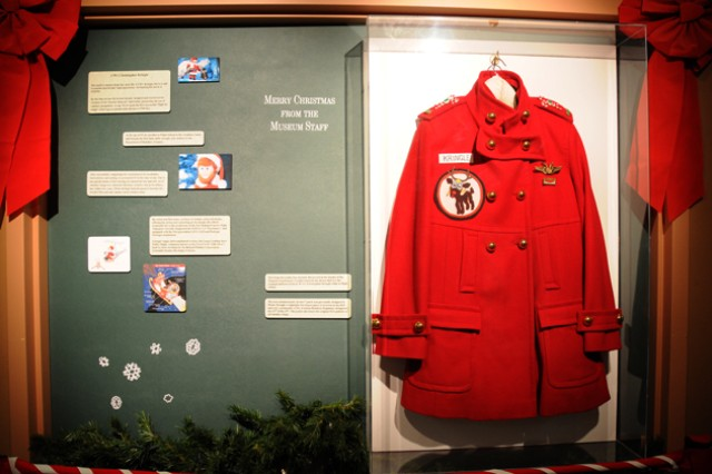 Officials at the U.S. Army Aviation Museum have set up a display showing the original flight jacket of Warrant Officer Christopher Kringle, at Fort Rucker, Ala.