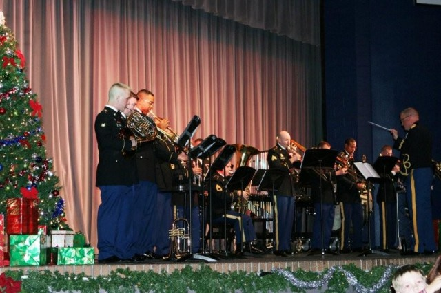"The Military Intelligence Band Brass Choir opened the show for the ""Sounds of the Season"" at Buena High School on Dec. 12. The group played four different pieces including ""The Star Spangled Banner"" and ""Festive Cheer."""