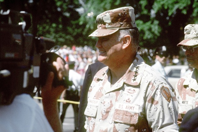"""Retired Army Gen. Herbert Norman Schwarzkopf, who was nicknamed """"Stormin' Norman,"""" died Dec. 27, 2012, in Tampa, Fla., at the age of 78, due to complications from pneumonia. Schwarzkopf became well-known to Americans in 1991 as commander of U.S. Central Command and commander of coalition forces during Operation Desert Storm."""