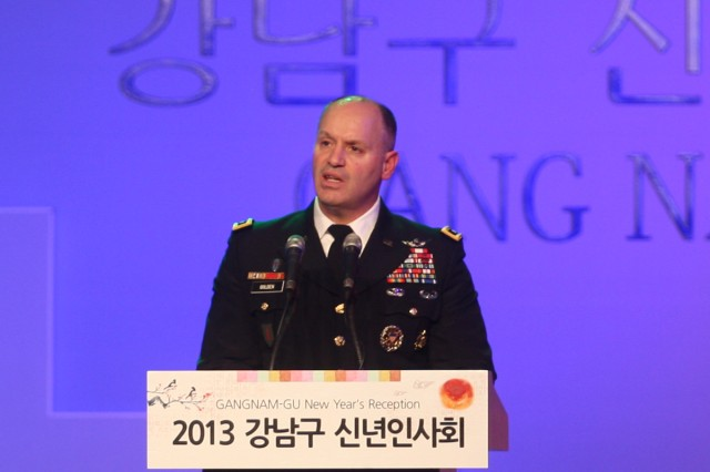 General thanks Gangnam for supporting U.S. troops