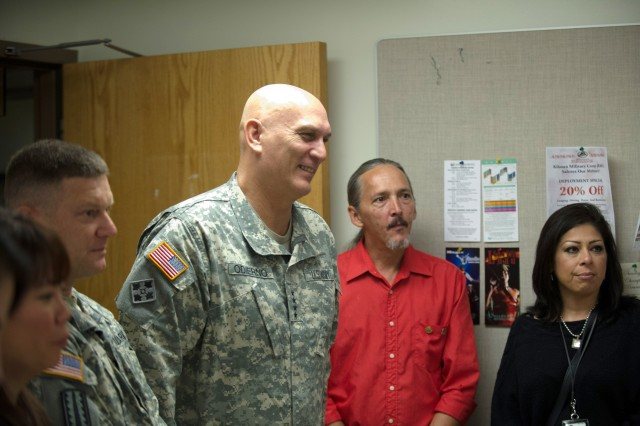 U.S. Army Chief of Staff Gen. Ray Odierno attends a meeting with Family Readiness Group members from the 25th Combat Aviation Brigade during his visit to Schofield Barracks, HI, Jan. 9, 2013.