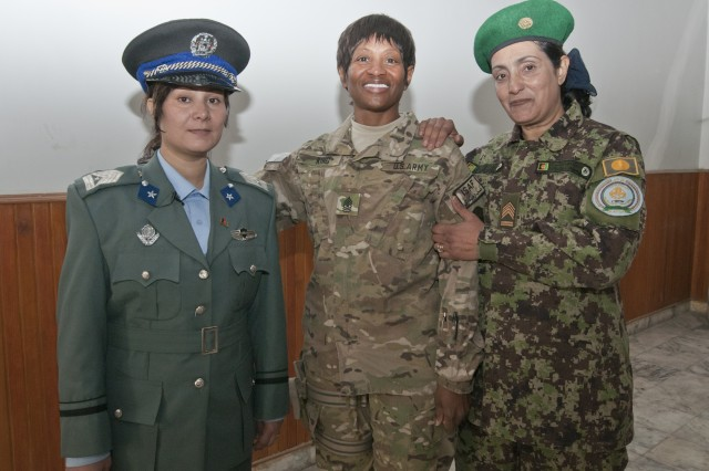 Afghan academy graduates first female sergeants major