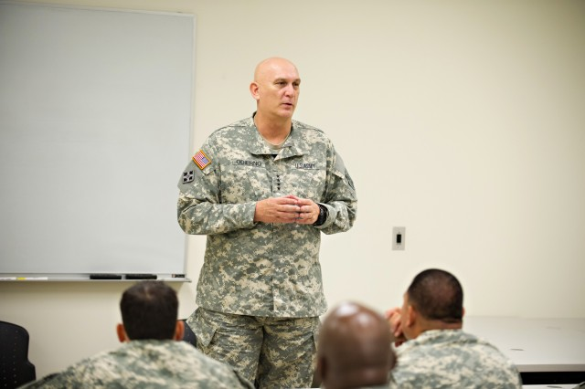 U.S. Army Chief of Staff Gen. Ray Odierno speaks to leaders from the 2nd Brigade, 25th Infantry Division at Schofield Barracks, HI, Jan. 9, 2013. (U.S. Army Photo by Staff Sgt. Teddy Wade/Released)