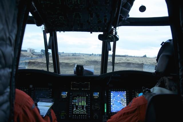 Chinook in flight