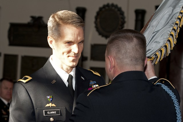 Brig. Gen. Richard D. Clarke became the 74th Commandant of Cadets at the U.S. Military Academy at West Point, N.Y., Jan. 18, 2013, during a change-of-command ceremony at Cullum Hall.