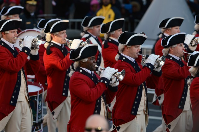 The U.S. Army Old Guard Fife and Drum Corps plays patriotic music on Pennsylvania Ave. during the 57th Presidential Inauguration, Jan. 21.