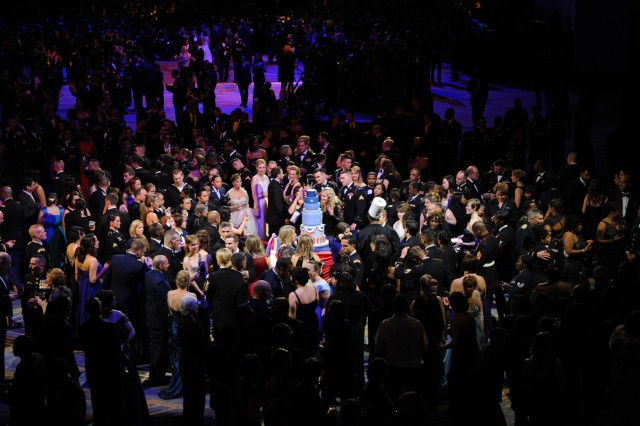 More than 4,000 service members joined in the festivities at the Commander-in-Chief Inaugural Ball celebrating the start of the second term of President Barack Obama, Jan. 21, 2013.