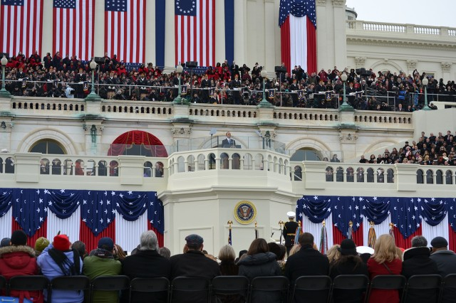 Injured former 10th Mountain Division (LI) Soldiers were invited to the U.S. Capitol in Washington this week where they had a good view of President Barack H. Obama as he gave his inaugural address Monday.