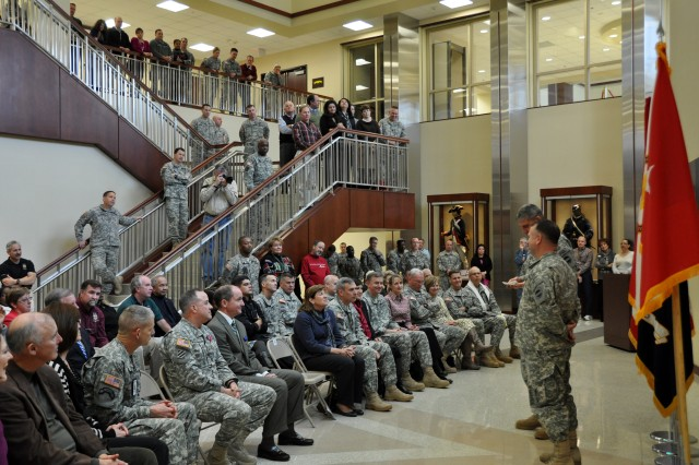 Gen. David M. Rodriguez, commanding general, U.S. Army Forces Command (FORSCOM), hosted a General Officer/Senior Executive Service member farewell ceremony, Jan. 25, 2013, in General George C. Marshall Hall, at Fort Bragg, N.C., as three key senior members of the FORSCOM staff move on to other Army assignments.
