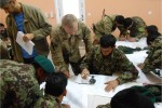 Afghan National Army forward observer training