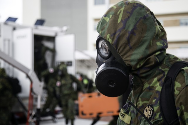 8th MPs, 45th Sust. Bde. rally in Singapore for CBRN