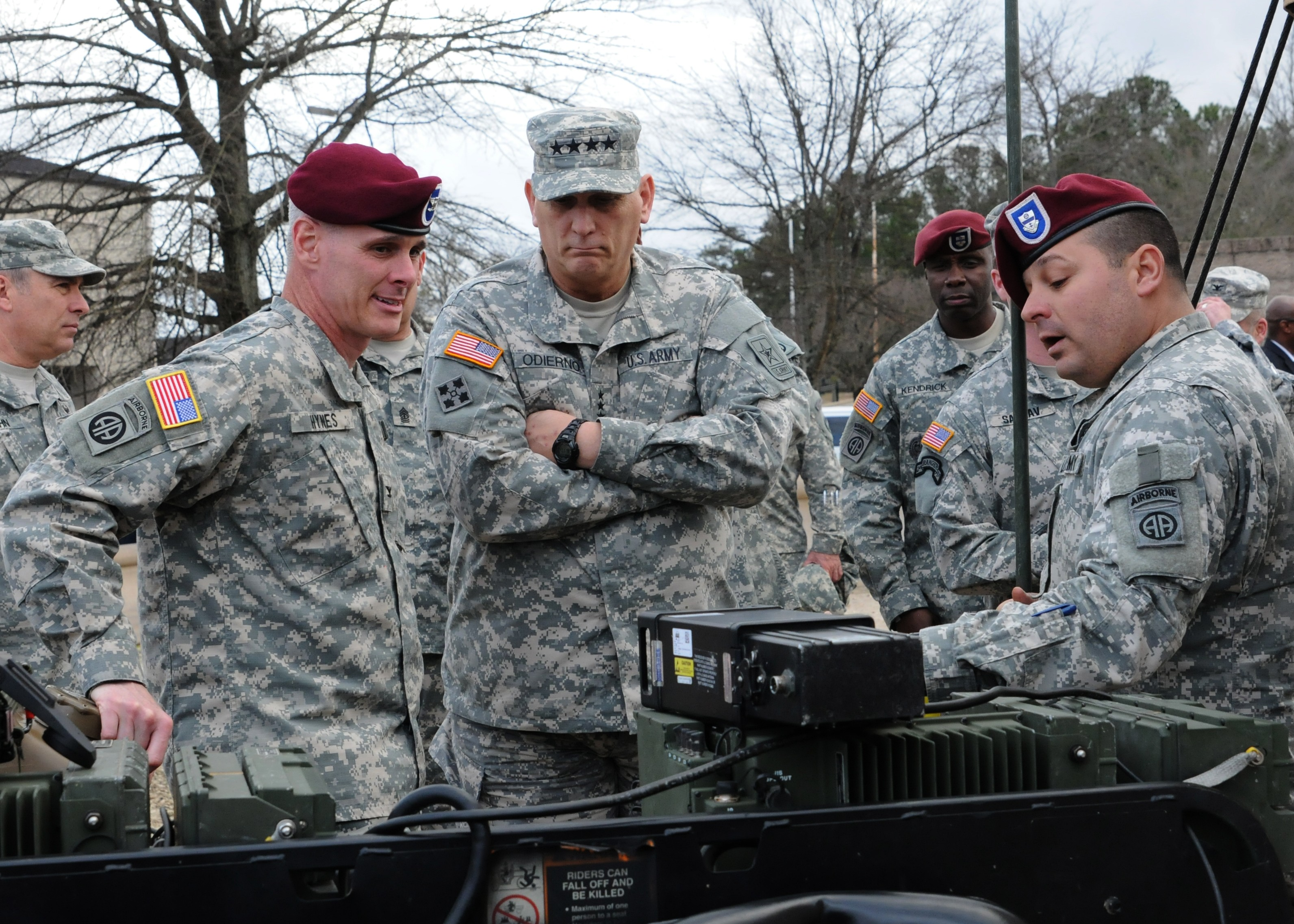 chief of staff of the army gen raymond t odierno visits the 82nd