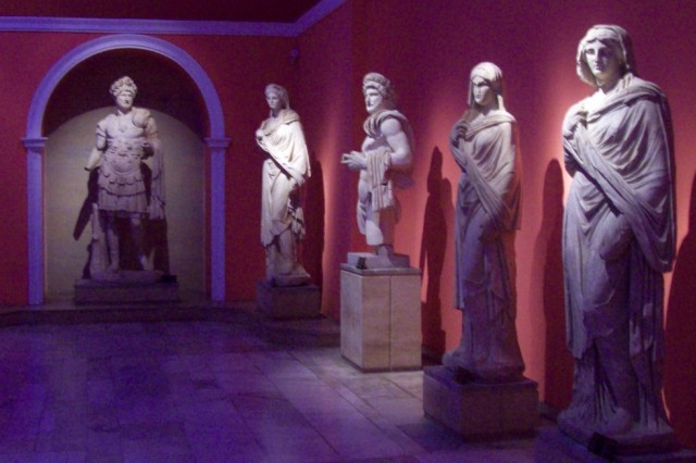 Statues unearthed in the many archeological sites nearby are displayed in the impressive Antalya Museum.